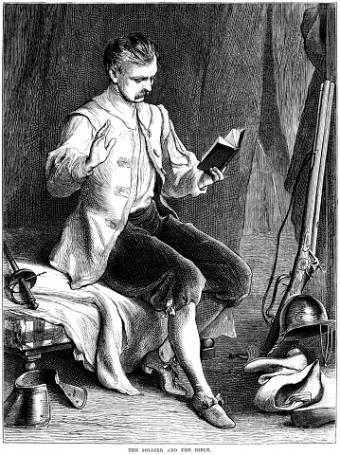 Civil War soldier in breeches