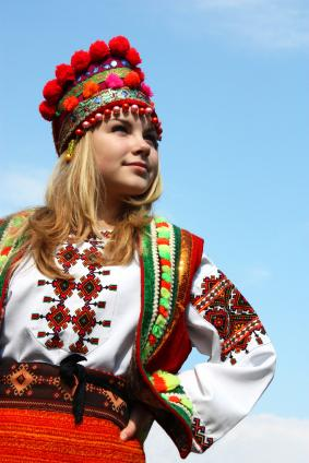 fff0b88e3 National costume Ukraine. Woman in traditional Ukranian folk costume