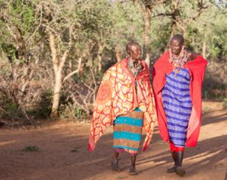 Maasai women in traditional dress.