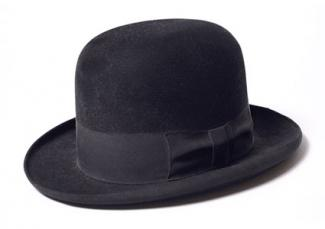 black homburg hat