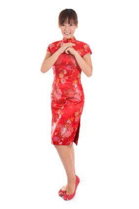 qipao or cheongsam dress