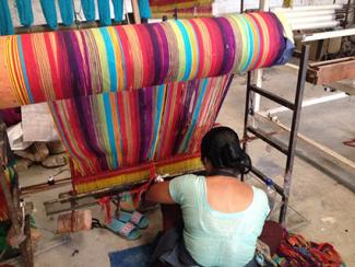 Woman weaving in Kathmandy Valley, Nepal