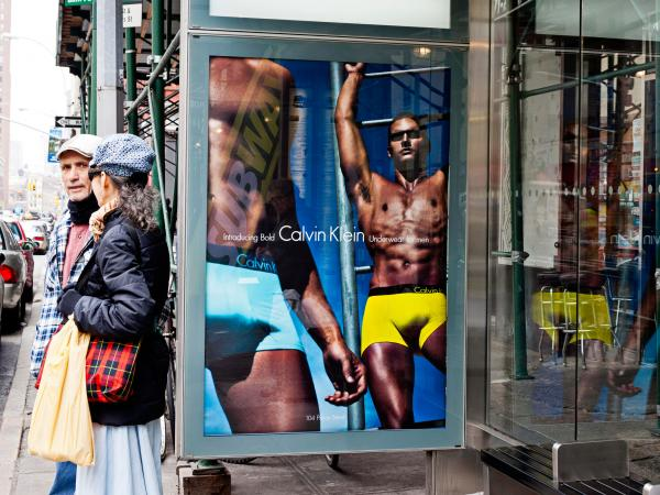 Calvin Klein Advertising in NYC