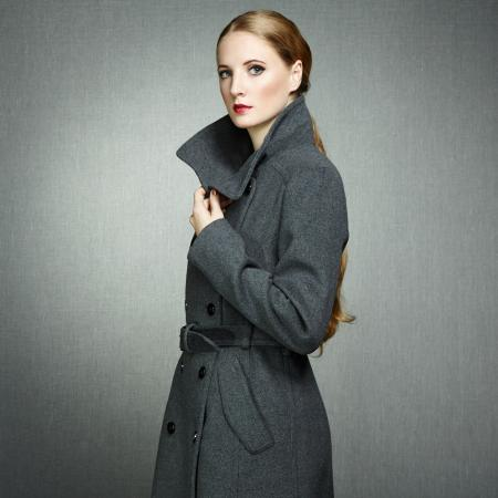 Woman in overcoat