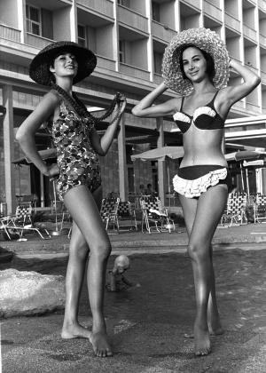 Gottex bathing suits modeled at the Sheraton Hotel in Tel Aviv