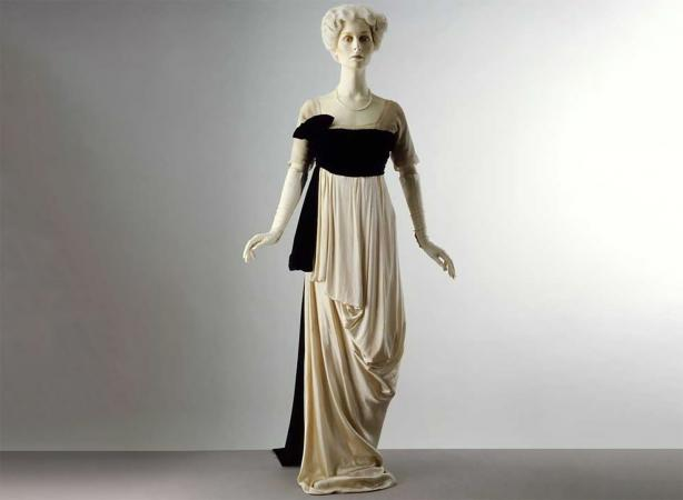 Evening dress, designed about 1912