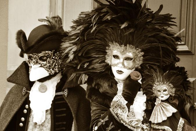 Masked ball at theater