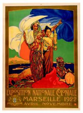 Poster of the colonial exhibition of Marseille of 1922