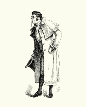 Man wearing greatcoat