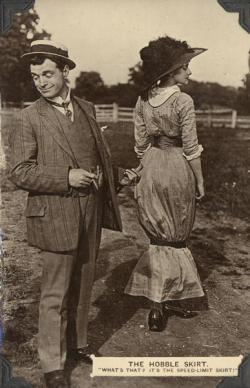 Hobble Skirt Postcard