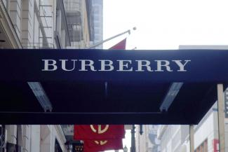 Burberry store signage