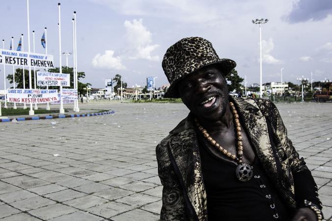 A sapeur in Kinshasa