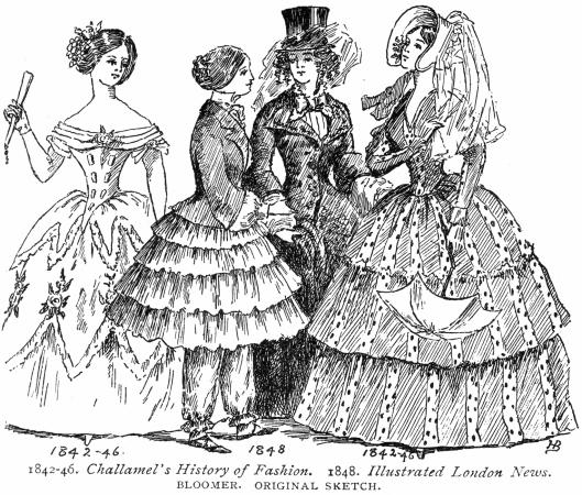 Victorian womens fashion from the mid 19th Century