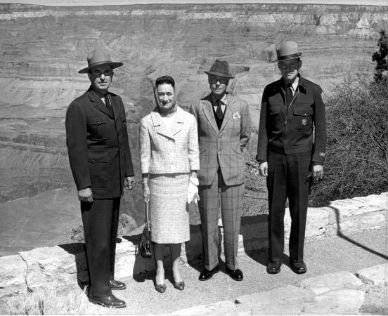 The Duke and Dutchess of Windsor at the Grand Canyon