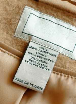 wool label