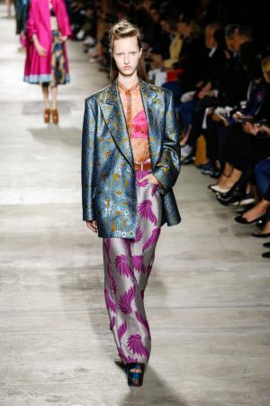 model wearing Dries Van Noten