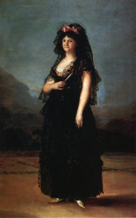 Queen María Luisa, in a Mantilla