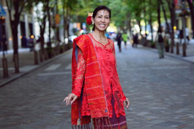 Woman wearing a kebaya