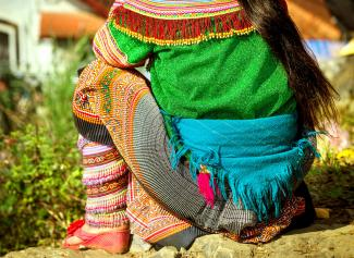 Hmong woman in traditional dress
