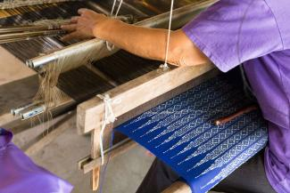 Thailand loom weaving