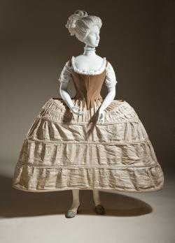 Hoop petticoat or pannier, English, 1750-80