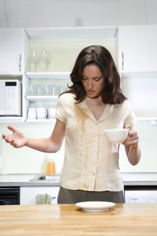 Coffee split on shirt