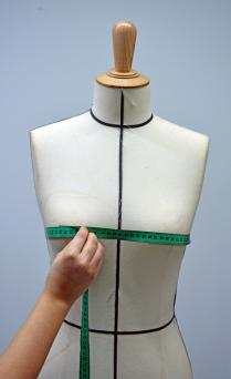 Taylor measuring on a mannequin