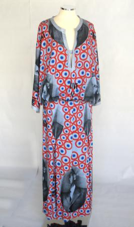 1973 printed dress by Paco Rabanne
