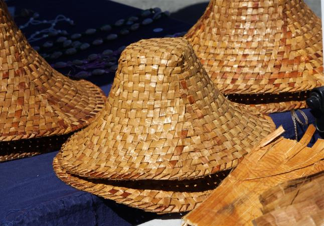 Hand woven Native American hats
