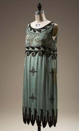 "1925 unlicensed copy of Madeleine Vionnet's ""Little Horses"" dress"
