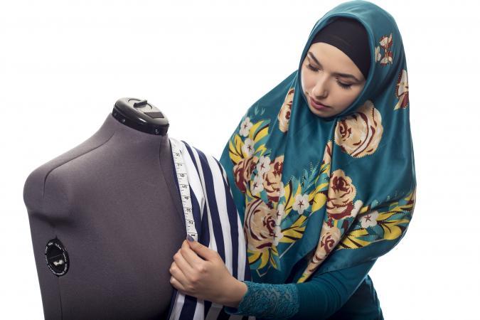 Muslim seamstress