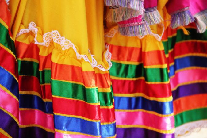 Colorful Mexican Dress