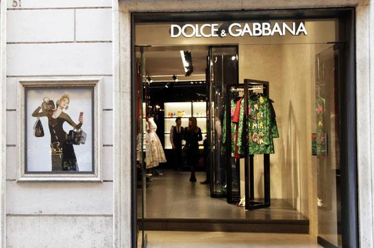 Dolce & Gabbana fashion store