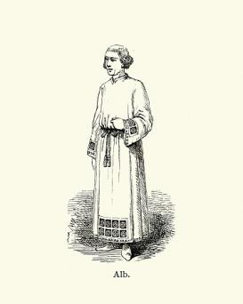Priest wearing an Alb