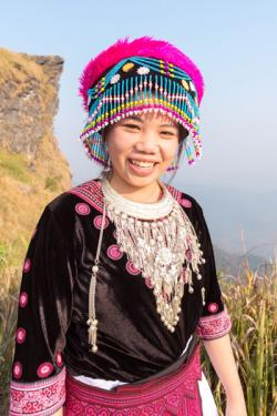Hmong girl in ethnic dress