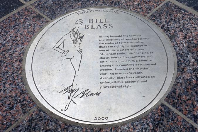 Bill Blass Plaque
