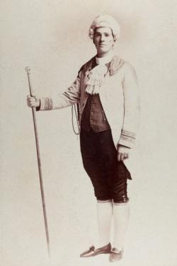 Vintage Portrait of Man in Fancy Dress as 18th Century Dandy