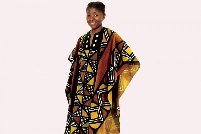 African woman in Boubou robe