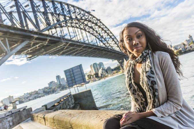 Aboriginal woman in Sydney