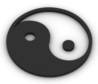 Image of a yin yang symbol