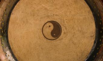 Yin Yang Symbols in Art and Photos