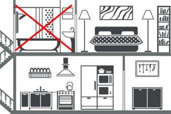 Do not put bathroom over kitchen