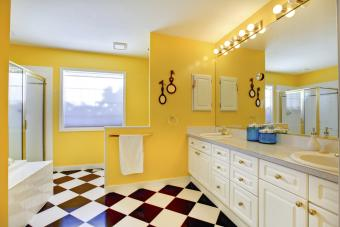 Bright yellow bathroom