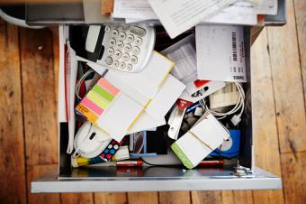 a messy desk drawer is negative chi energy