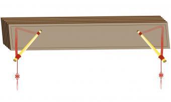 flutes at ends of beams