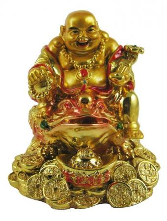Laughing Buddha on Money Frog