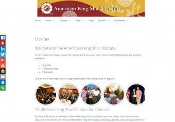 Screenshot of American Feng Shui Institute