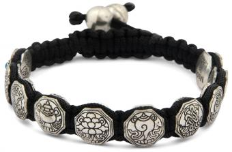 Eight Auspicious Symbols Adjustable Bracelet