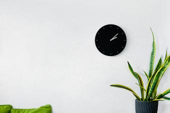 wall decoration with clock