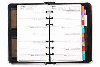 Personal weekly planner